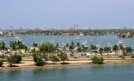 Miami Beach aerial view royalty free stock image