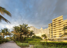 Miami Beach with Architecture Stock Photo