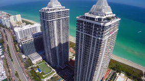 Miami Beach architecture on the beach stock footage