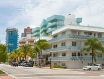 Miami Beach Art Deco District Royalty Free Stock Images