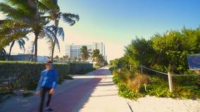Miami Beach Atlantic Way boardwalk pedestrian pathway