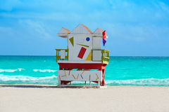 Free Miami Beach Baywatch Tower South Beach Florida Stock Images - 73513154