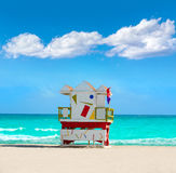 Miami beach baywatch tower South beach Florida Royalty Free Stock Images