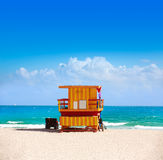 Miami beach baywatch tower South beach Florida Royalty Free Stock Photo