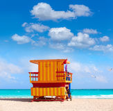 Miami beach baywatch tower South beach Florida Royalty Free Stock Photos