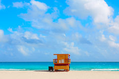Miami beach baywatch tower South beach Florida Royalty Free Stock Image