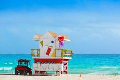 Miami beach baywatch tower South beach Florida Stock Photo