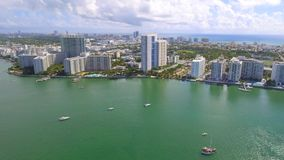 Miami Beach biscayne Bucht stock video