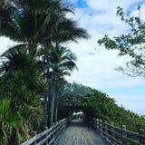 Miami beach boardwalk florida Stock Photo