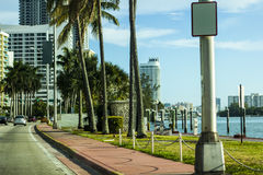 Miami Beach Boulvard Lizenzfreies Stockfoto