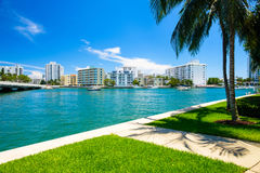 Miami Beach Cityscape Royalty Free Stock Images