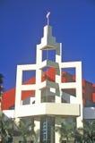 Miami Beach Convention Center som lokaliseras i art décoområdet av Miami Beach, Miami, Florida Arkivbilder