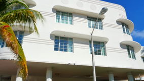 Miami Beach deco architecture stock video footage