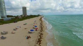 Miami Beach drone video. 4k video of Miami Beach FL USA stock video