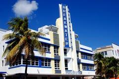Miami Beach, FL: Art Deco Breaktwater Hotel Royalty Free Stock Photography