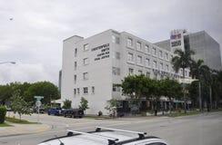 Miami Beach FL, am 9. August: Details des historischen Gebäudes vom Miami Beach in Florida stockfotografie