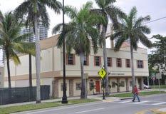 Miami Beach FL,August 09th: Art Deco Building from Miami Beach in Florida Stock Photos
