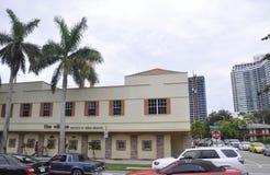 Miami Beach FL,August 09th: Art Deco Building from Miami Beach in Florida Stock Photo