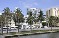 Miami Beach FL,August 09th: Cityscape of Miami Beach in Florida Stock Photo