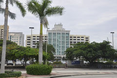 Miami Beach FL,August 09th: Dade College from Miami Beach in Florida Stock Photos