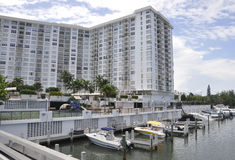 Miami Beach FL,August 09th: Frontwater Hotel from Miami Beach in Florida Stock Images