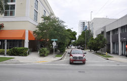 Miami Beach FL,August 09th: Street view from Miami Beach in Florida Stock Image