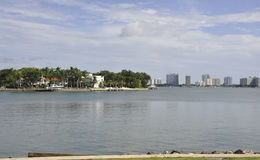 Miami Beach FL,August 09th: Venetian Island from Miami Beach in Florida Stock Images