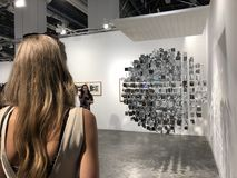 Art Basel Expo 2017. Miami Beach, FL: December 8, 2017: Art Basel Expo 2017, an international yearly art fair. The Art Basel Expo is held annually stock photography