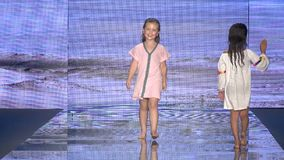 Kid Models walk the runway for PitUSA Swim during the Paraiso Fashion Fair on July 14 , 2018 stock video