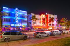 Colony Hotel Miami Beach Ocean Drive Royalty Free Stock Photos
