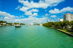 Luxury yachts cruising Royalty Free Stock Image