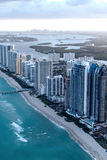 Miami Beach, Florida. Amazing sunset view from helicopter Stock Photography