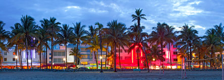Free Miami Beach, Florida Hotels And Restaurants At Sunset Stock Image - 32919391