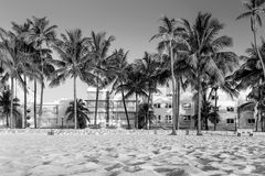 Miami Beach, Florida hotels and restaurants at twilight on Ocean Stock Photography
