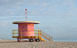 Miami Beach Florida, lifeguard house Royalty Free Stock Photography