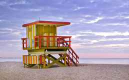 Miami beach Florida lifeguard house Stock Photography