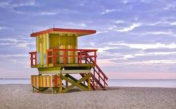 Miami beach Florida lifeguard house Stock Photography