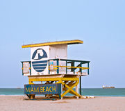 Miami beach Florida lifeguard house Royalty Free Stock Image