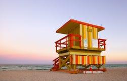 Free Miami Beach Florida Lifeguard House Royalty Free Stock Photos - 29763508
