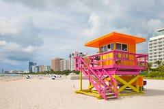 Miami Beach Florida, lifeguard house Royalty Free Stock Image