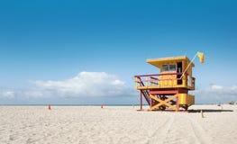 Miami Beach Florida, livräddarehus arkivfoton