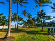 Miami Beach in Florida with luxury apartments and waterway Royalty Free Stock Photography