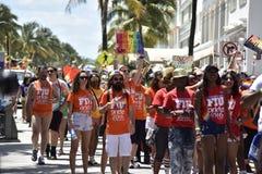 MIAMI BEACH, FLORIDA, o 9 de abril de 2016 - orgulho alegre Fotografia de Stock Royalty Free