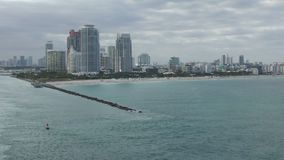 Miami Beach Florida skyline stock footage