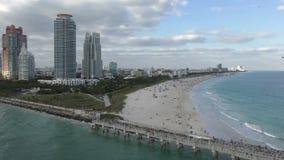Miami beach Florida. Southenmost tip of Miami Beach Florida stock footage