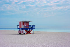 Miami beach, Florida USA. Empty beach Stock Image