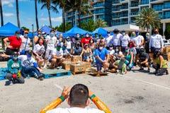 Food Distribution Underway in Miami Beach during COVID-19 coronavirus pandemic