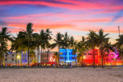 Miami Beach, Florida. USA at Ocean Drive Royalty Free Stock Photography