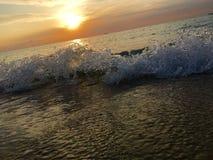 Miami Beach , Florida , USA. Sunrise , Ocean , Beach Royalty Free Stock Image