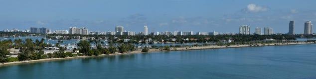 Miami Beach Florida veduta sull'orizzonte immagini stock